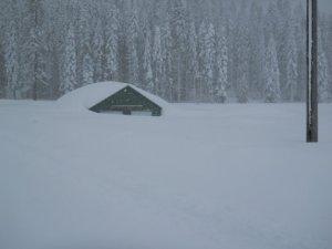 Station under snow 2011